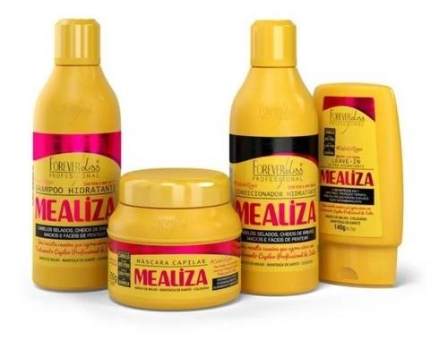 Kit Completo Maizena Capilar Mealiza Mascara 250g Forever Liss