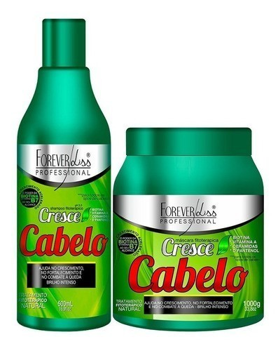 Kit Cresce Cabelo forever liss Mascara 1kg + Shampoo - todos - Suave