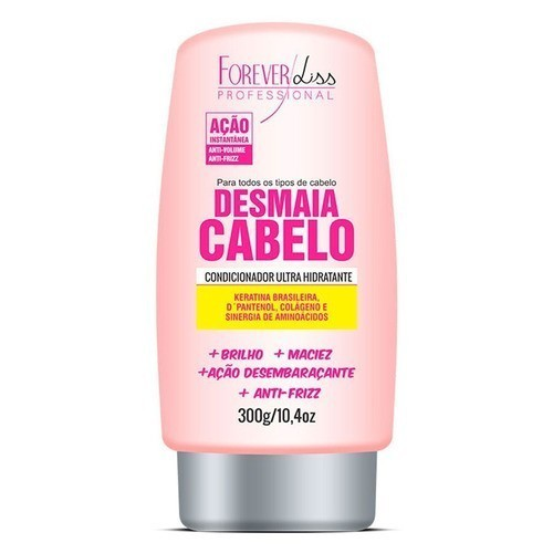 Kit Desmaia Cabelo Máscara 350g + Shampoo 500ml + Leave-in + Serum