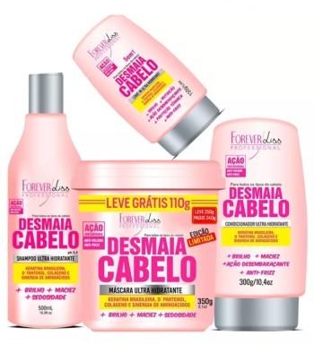 Kit Desmaia Cabelo Máscara 350g + Shampoo + Condicionador + Leave-in - todos - Suave