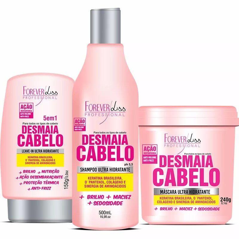 Kit Desmaia Cabelo Mascara 350g + Shampoo + Leave-in