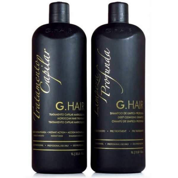 Kit Duo Inoar G-Hair Tratamento Capilar Marroquino Redutor de Volume 2x1L