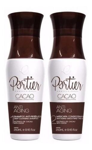 Kit Escova Progressiva Portier Cacao Baby  2x250ml - SUAVE