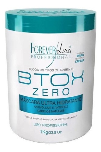 Kit Escova Progressiva Semi Definitiva Zero E Btox Zero 1kg Forever Liss