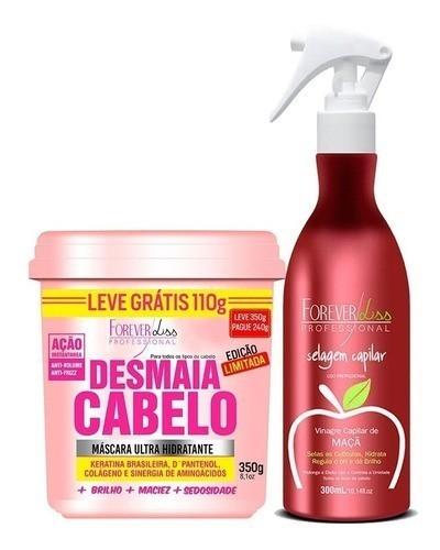 Kit Forever Liss - Vinagre De Maçã + Desmaia Cabelo 350g
