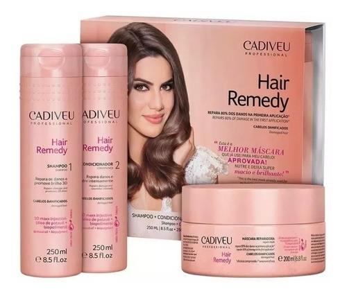 Kit Hair Remedy Home Care + SOS Serum 150g - 4 Produtos