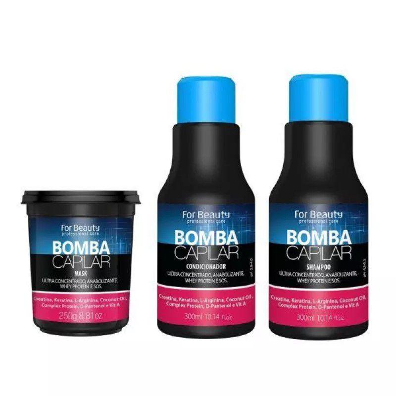 Kit Manutenção Sos Bomba Capilar Mascara 250g - For Beauty