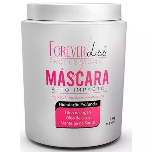 Kit Mascara Alto Impacto 1kg Hidratação + Sos - Forever Liss