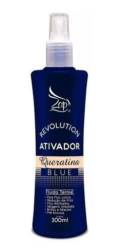 Kit Mascara Alto Impacto Btox Matizador Ativador Queratina Blue