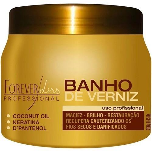 Kit Máscara Banho De Verniz 250g + Anabolizante 240g Forever Liss