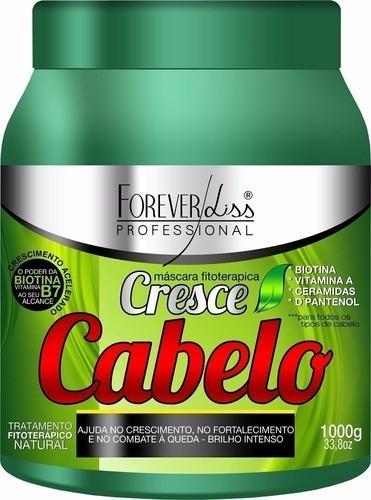 Kit  Máscaras Cresce Cabelo 1kg + Anabolizante Capilar 950g - Forever Liss