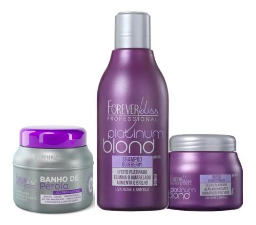 Kit Matizador Platinum Blond E Banho De Pérola 250g Forever Liss