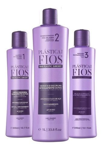 Kit Plastica Dos Fios Ativo 1l E Passo 1-3 De 300ml Com Selo Cadiveu