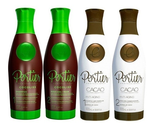 Kit Portier Escova Progressiva Cocoliss + Cacao Thermo Litro