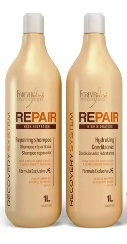 Kit Shampoo E Condicionador Force Repair 1lt - Forever Liss