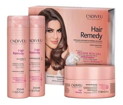 Kit Shampoo E Condicionador + Mascara Hair Remedy Cadiveu
