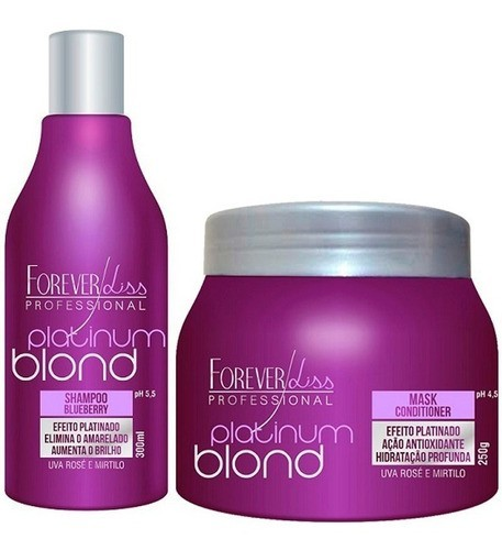 Kit Shampoo E Máscara Platinum Blond E Banho De Verniz 250g
