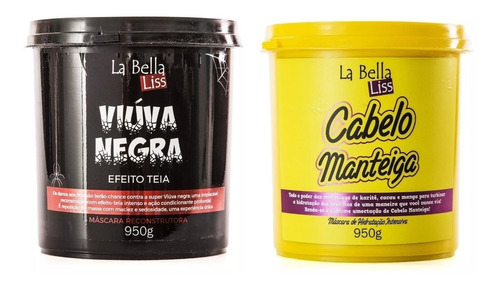 La Bella Liss Máscara Viúva Negra 950g + Cabelo Manteiga 950g
