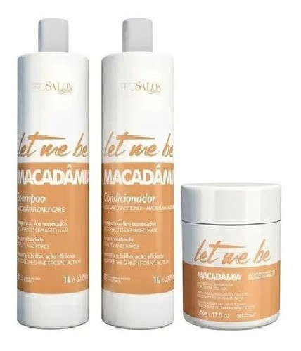 Let Me Be Kit Lavatorio Macadamia Sh/cond (2x1l) + Mask 500g