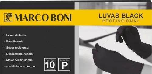 Marco Boni Caixa De Luva Reutilizavel P M G Preta Com 10 Un