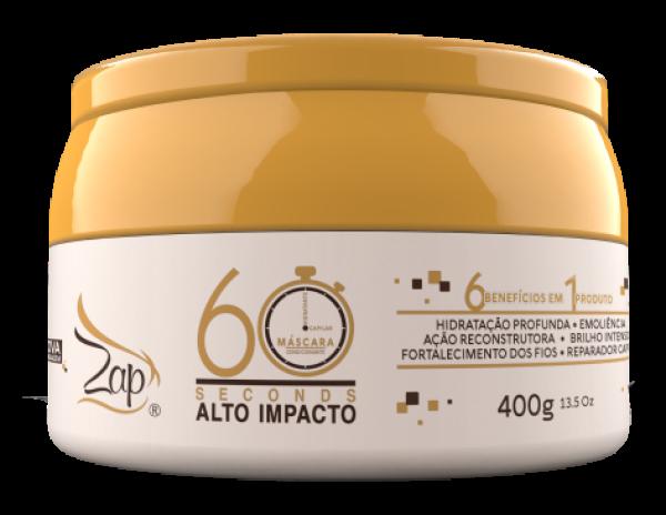 Mascara Alto Impacto 60 Segundos Mega Hidratacao 400g Zap