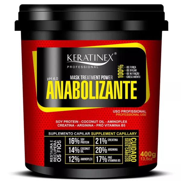 Mascara Anabolizante Capilar Power 400g - Keratinex