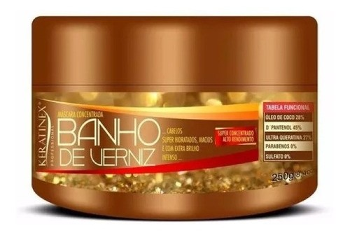 Mascara Banho De Verniz 250g Extra Brilho Intenso Keratinex