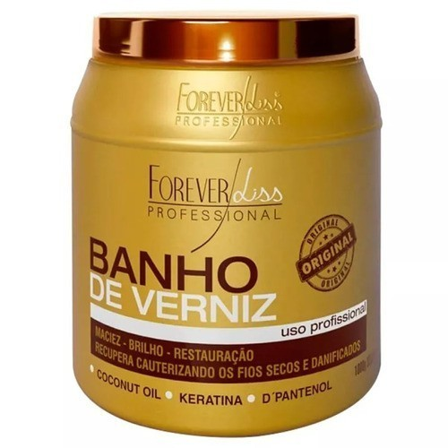 Máscara Banho De Verniz Brilho Hidratante 1kg Forever Liss