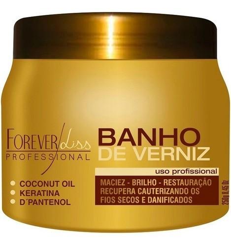 Máscara Banho De Verniz Brilho Hidratante 250g Forever Liss