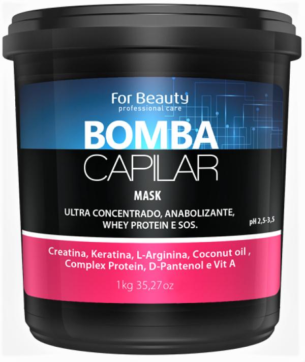 Máscara Bomba Capilar For Beauty 1Kg