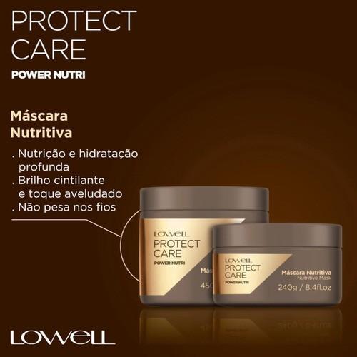 Máscara Lowell Protect Care Power Nutri 450g