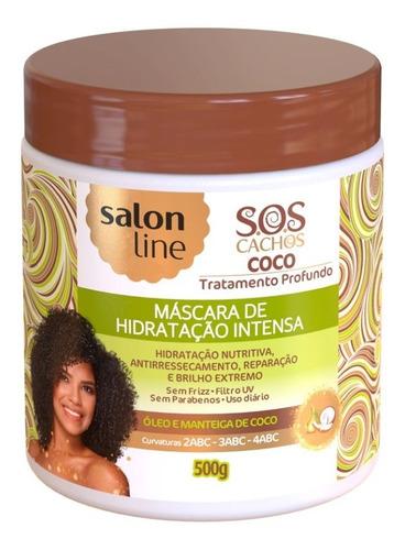 Máscara Tratamento S.o.s. Cachos Coco Creme Salon Line 500ml