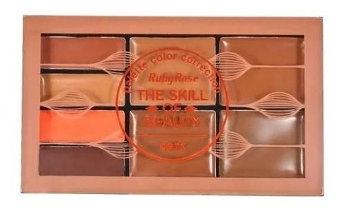 Paleta De Corretivo Escuro Ruby Rose Hb8097-5