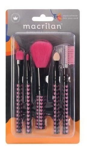 Pincel Kit De Maquiagem Kit C/ 5 Macrilan - Kp35-5