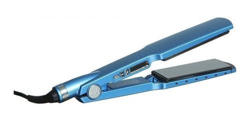 Prancha De Cabelo Babyliss Pro 2094 Babnt2094t Azul Com Placas De Titânio E Cerâmica 110v
