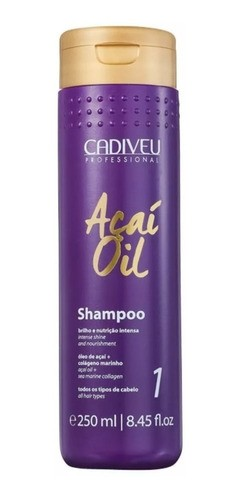 Shampoo Anti Frizz Acai Oil 250ml - Cadiveu