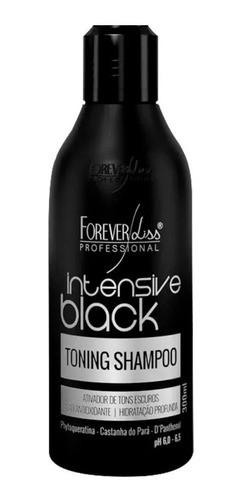 Shampoo Tonalizante Intensive Black 300ml Forever Liss