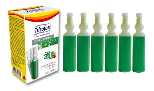 Tricofort Tônico Capilar Ampola 3 Em 1 - Caixa C/6 Unidades