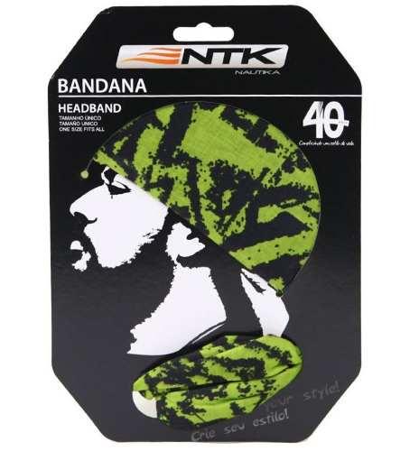 Bandana Tubular Sem Costura Verde 100% Microfibra Ntk