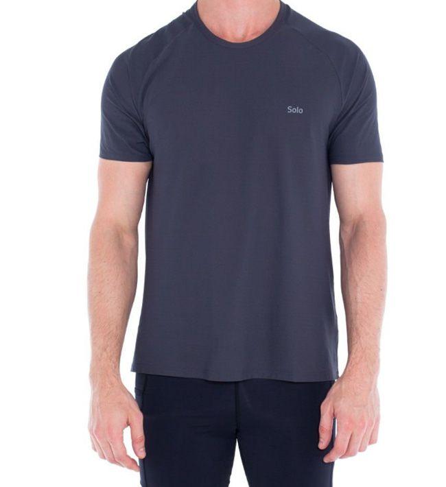 Camiseta Upf 50+ Ion Uv Manga Curta Masculina Solo