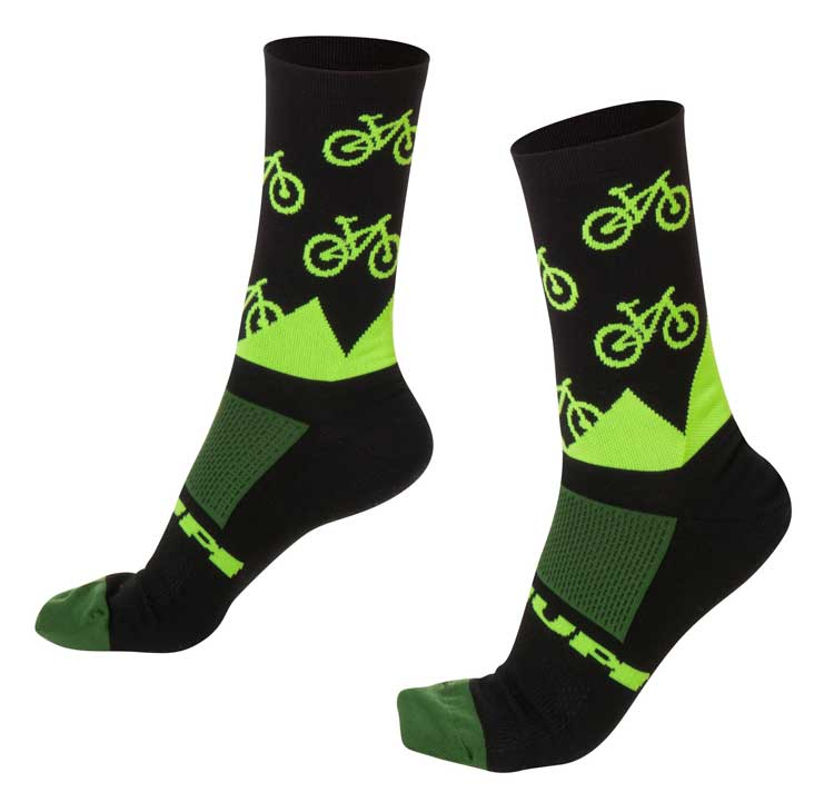Meia Ciclismo Bike Verde Hupi
