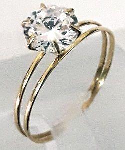 30d5f83f6f1fc Anel Solitário Noivado Namoro 15 Anos Casamento em Ouro 18k