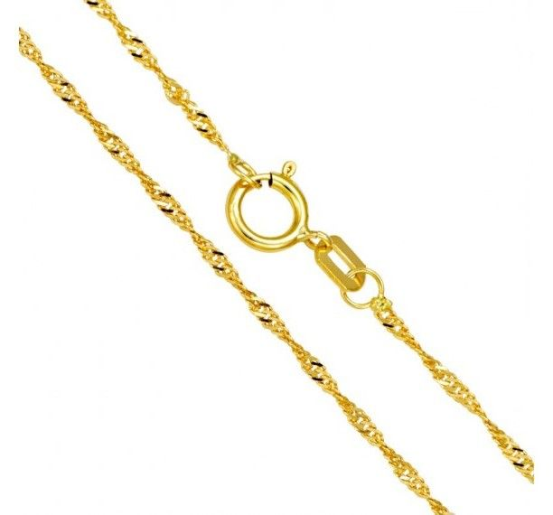 6016c48a649 Corrente Singapura Feminina em Ouro 18k - 50 cm ( 1.0g )