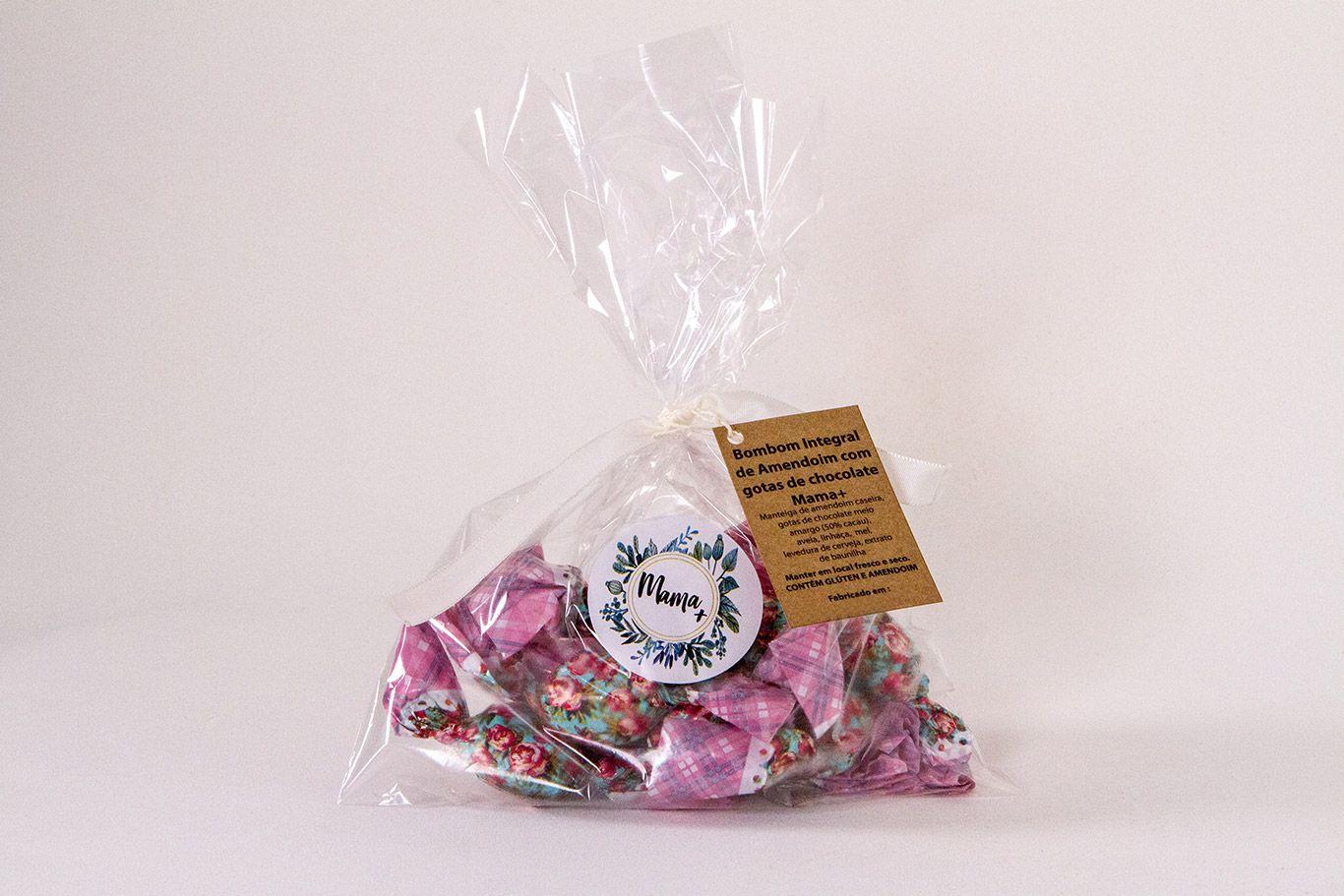 Bombom Integral de Amendoim Mama+ Edição Especial com Gotas de Chocolate