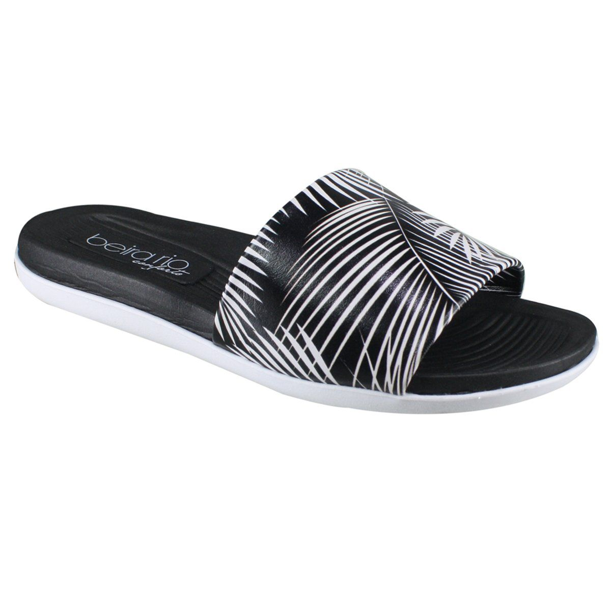 Chinelo Slide Beira Rio Preto Tropical