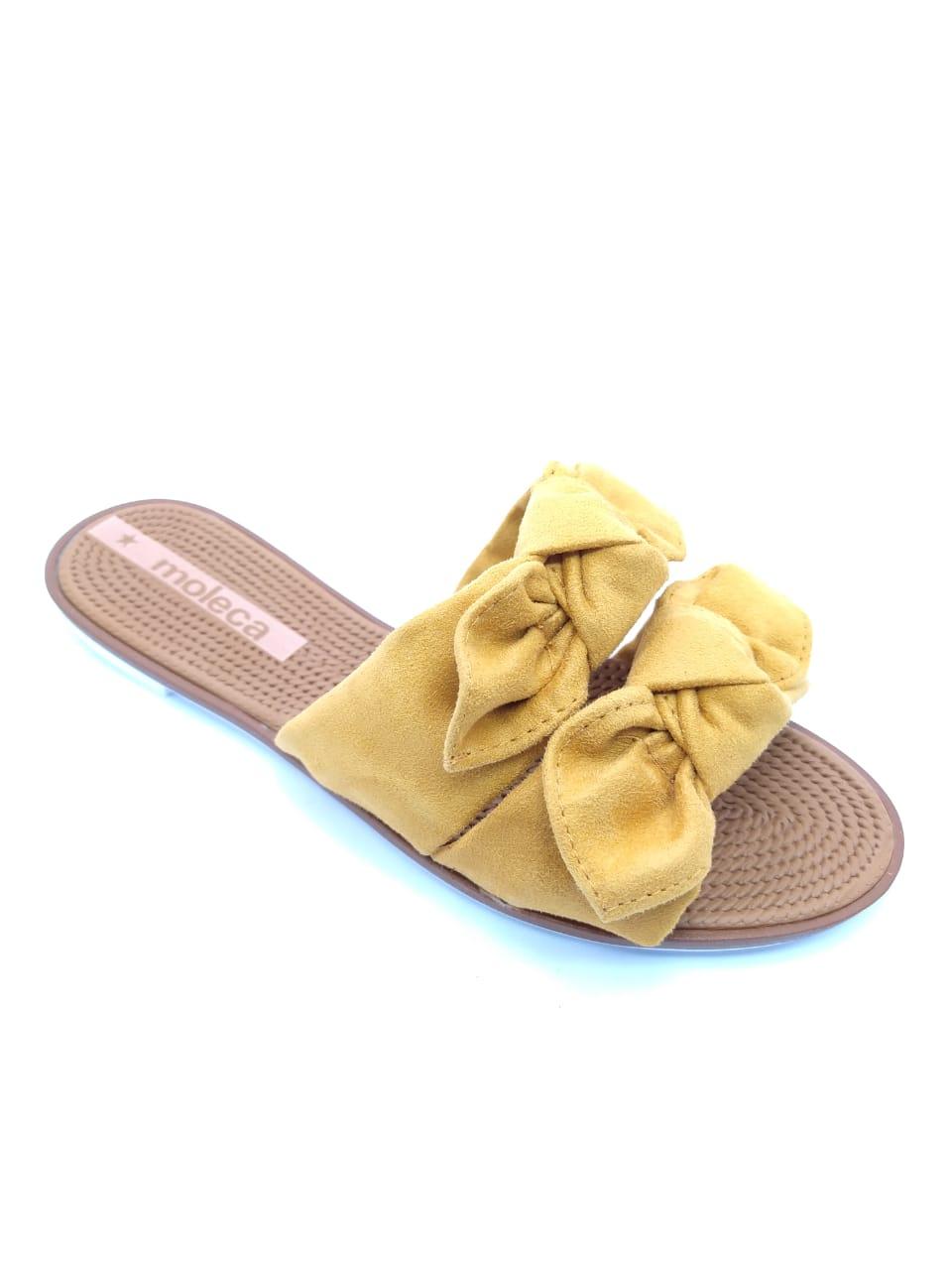 Rasteira Moleca Feminina Amarela