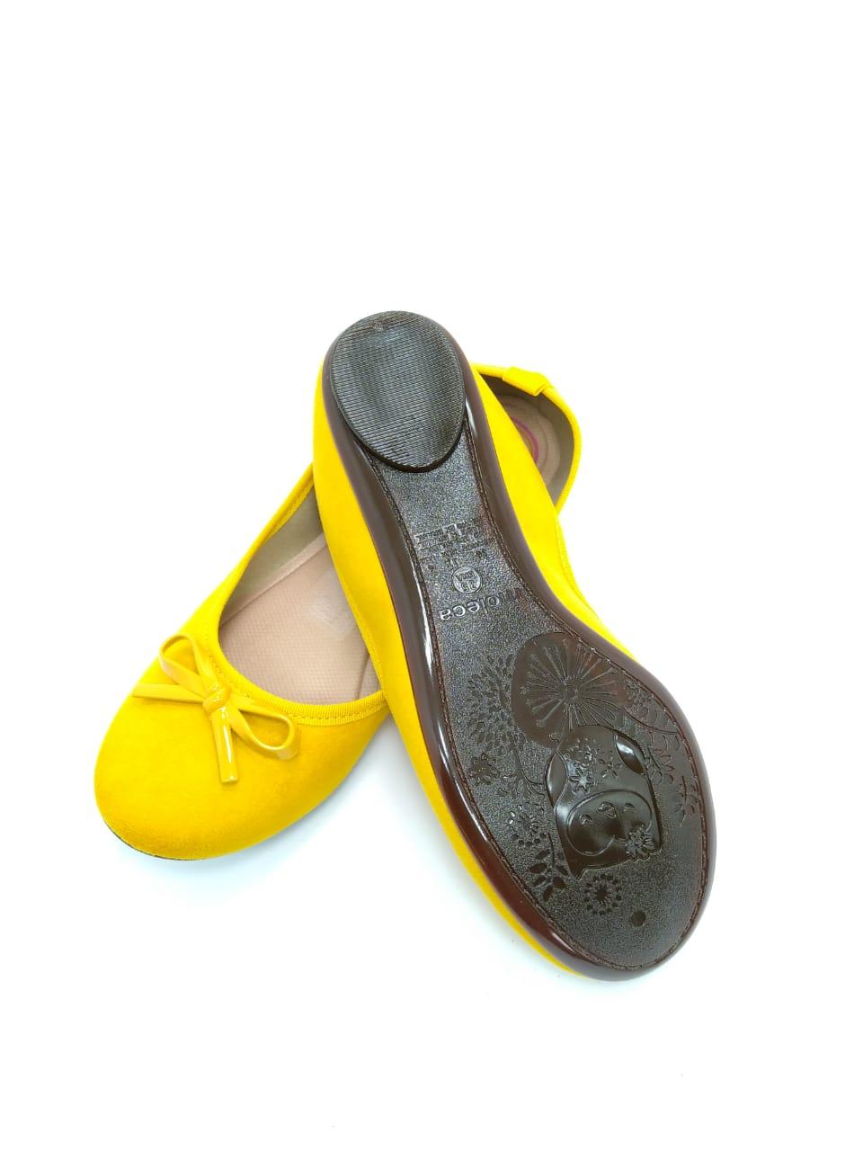 Sapatilha Moleca Feminina Amarela