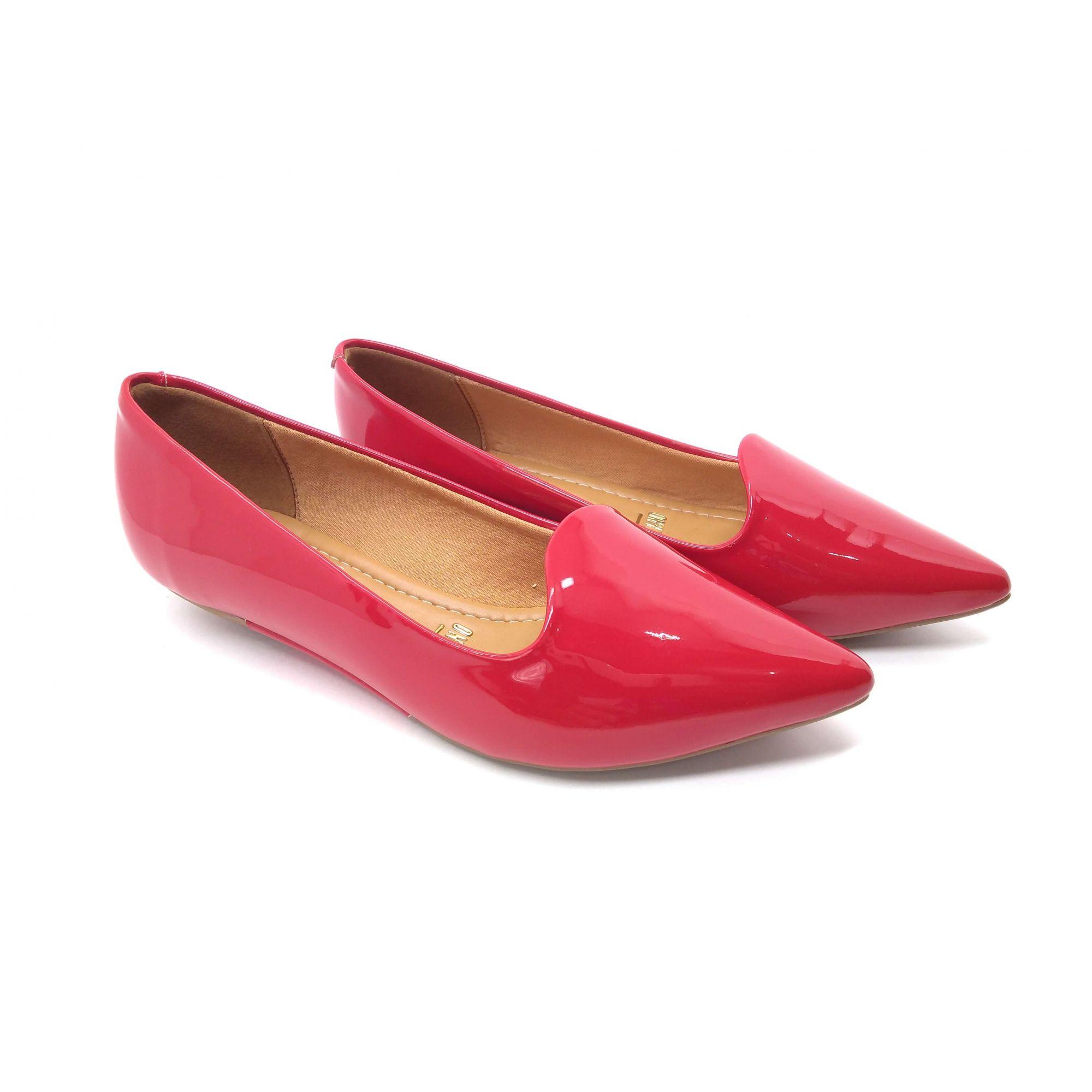 Sapatilha Vermelha Bico Fino