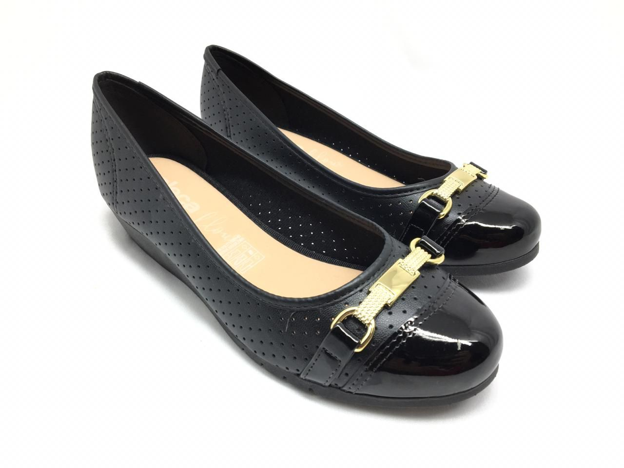 Sapato Anabela Moleca Preto
