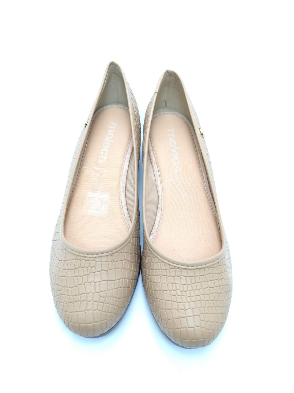 Sapato Moleca Anabela Nude